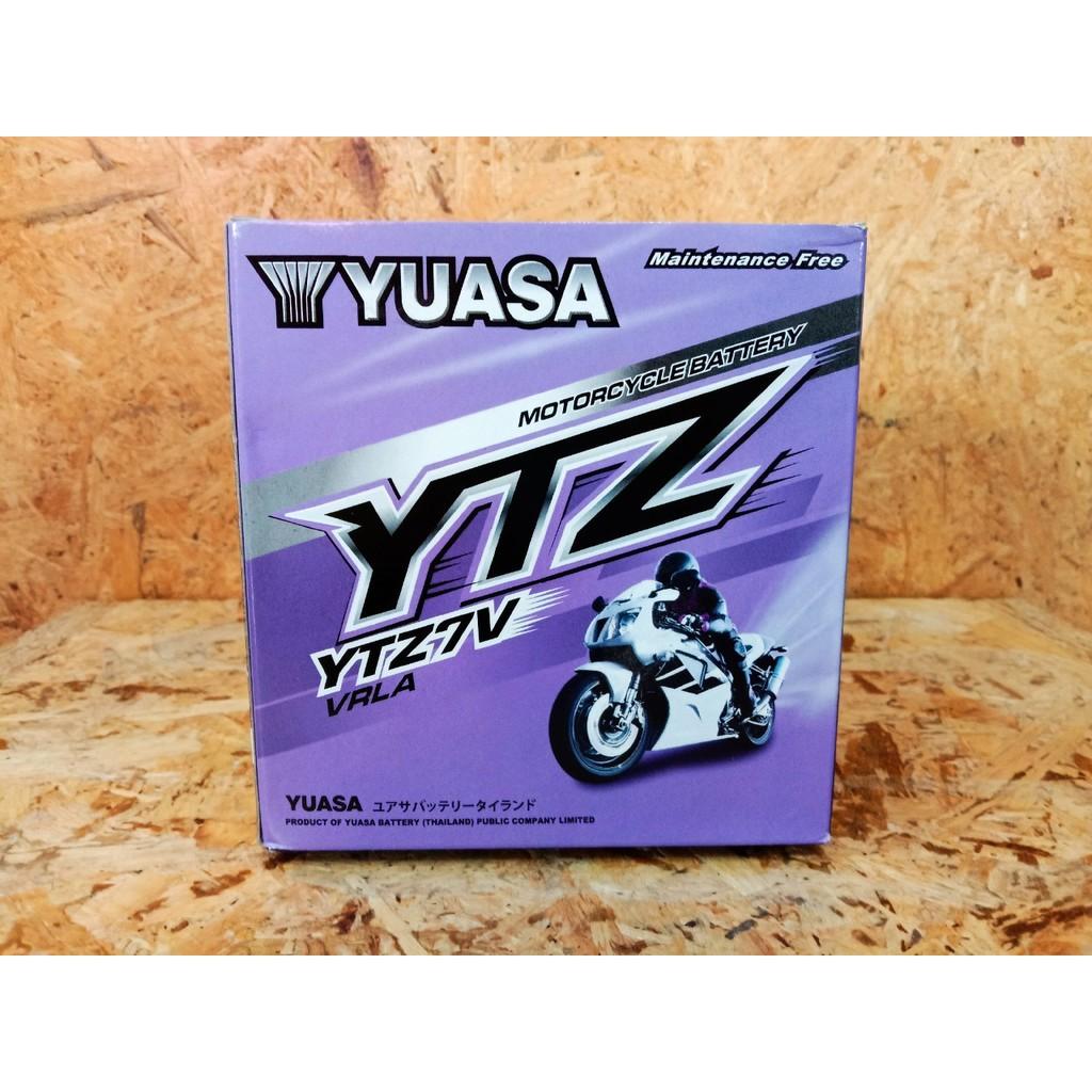 YUASA แบตเตอรี่ BIGBIKE แบต Bigbike มอเตอร์ไซค์ 12v Honda CB300 CBR300 CBR250 Yamaha R3 YUASA - YTZ7V