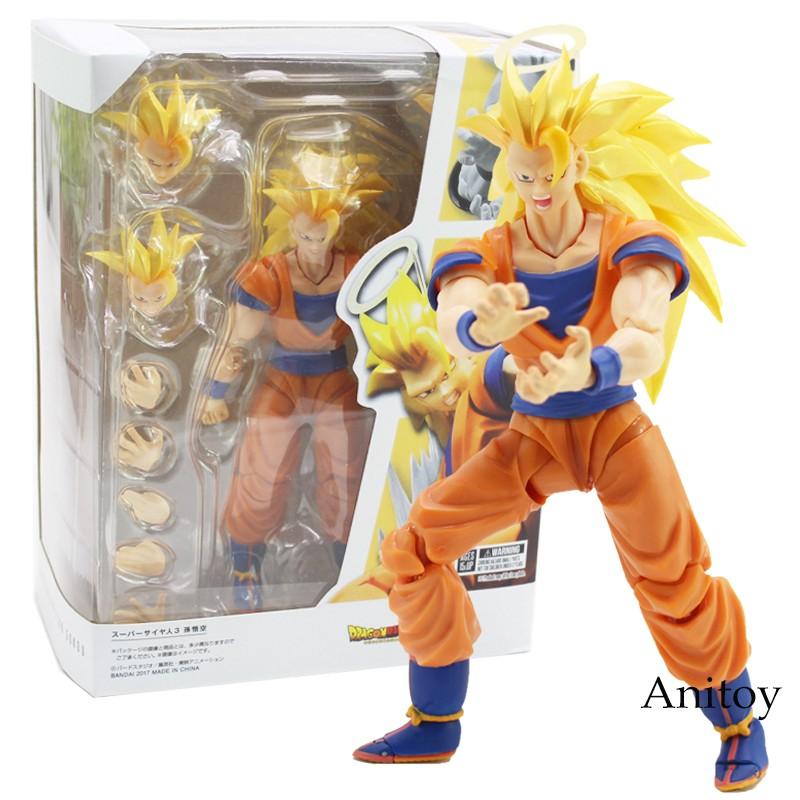 S.H.Figuarts Dragon Ball Z Super Saiyan 3 Son Goku 2.0 Gokou DBZ PVC Figure New