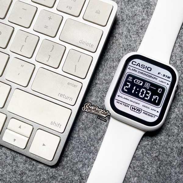 สาย applewatch สายรัด iwatch 6 glacier จำกัด SE สายสีขาวนมบริสุทธิ์ Applewatch345 รุ่น Apple watch
