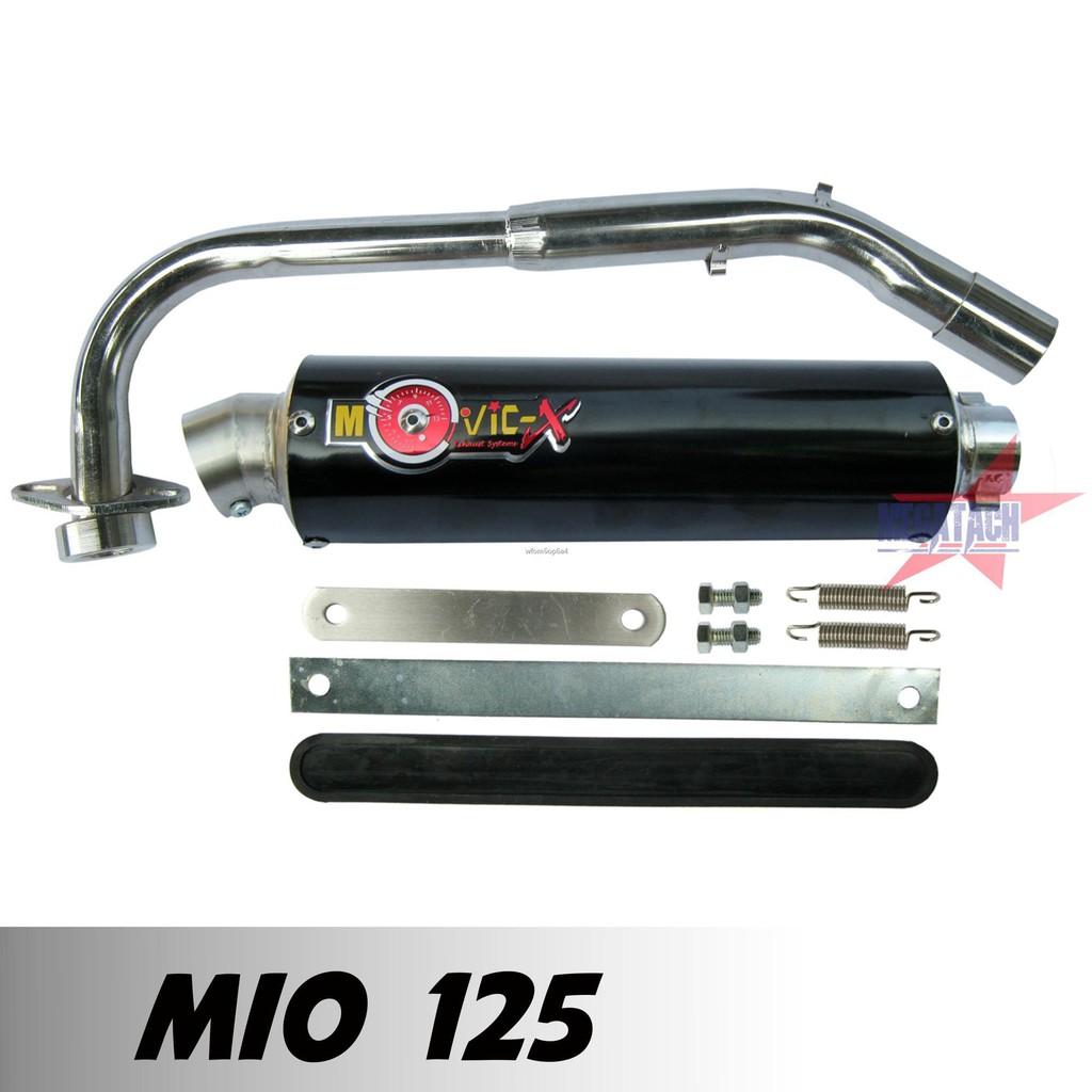 ☋ท่อสูตร รุ่น MIO 125 ปลายกลม ตรงรุ่น ท่อโมวิค MOVIC-X ทรง ENDURANCE มี มอก. คอท่อชุบโครเมี่ยมอย่างดี + ปลาย แค้มรัดท่อ