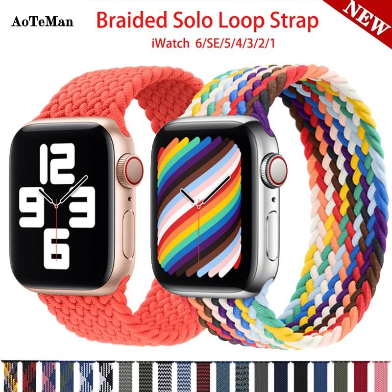 สาย applewatch สายนาฬิกา applewatch 🔥พร้อมสต็อก🔥สายนาฬิกาข้อมือผ้าไนล่อนถัก 44 มม . สําหรับ Apple Watch Band 40 มม . 3