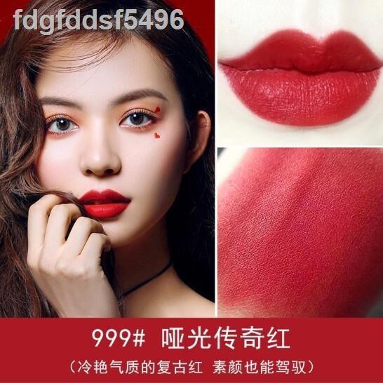 เครื่องสำอางสำหรับดวงตา►▦✆Dior lipstick 999 matte and moisturizing สำหรับแฟนเพื่อนภรรยาลูกสะใภ้แฟนของขวัญวันเกิดงานแต่ง