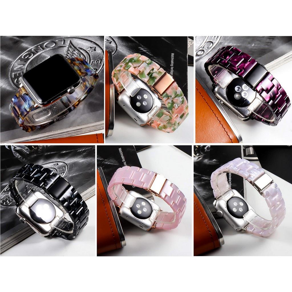 ✔⊙❧สายนาฬิกา Apple Watch Resin Straps เรซิน สาย Applewatch Series 6 5 4 3 2 1,  Apple Watch SE Stainless Steel สายนาฬิกา