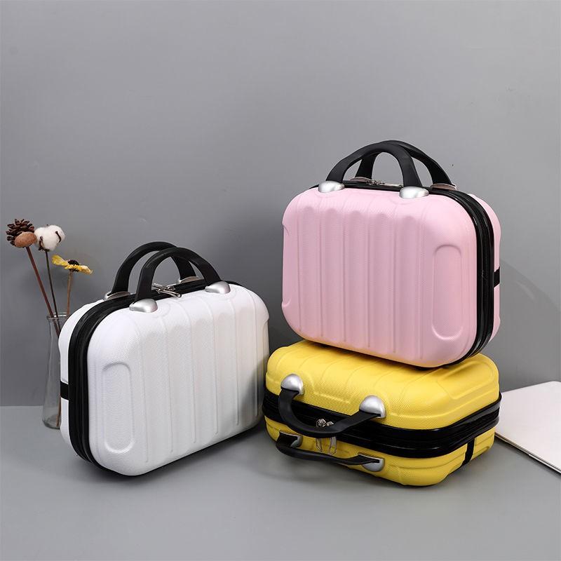 [Factory Clearance] กระเป๋าเครื่องสำอางกระเป๋าเดินทางใบเล็ก 14 นิ้วสามารถแขวนได้ รถเข็นกระเป๋ากล่องเก็บอุปกรณ์เสริม 16