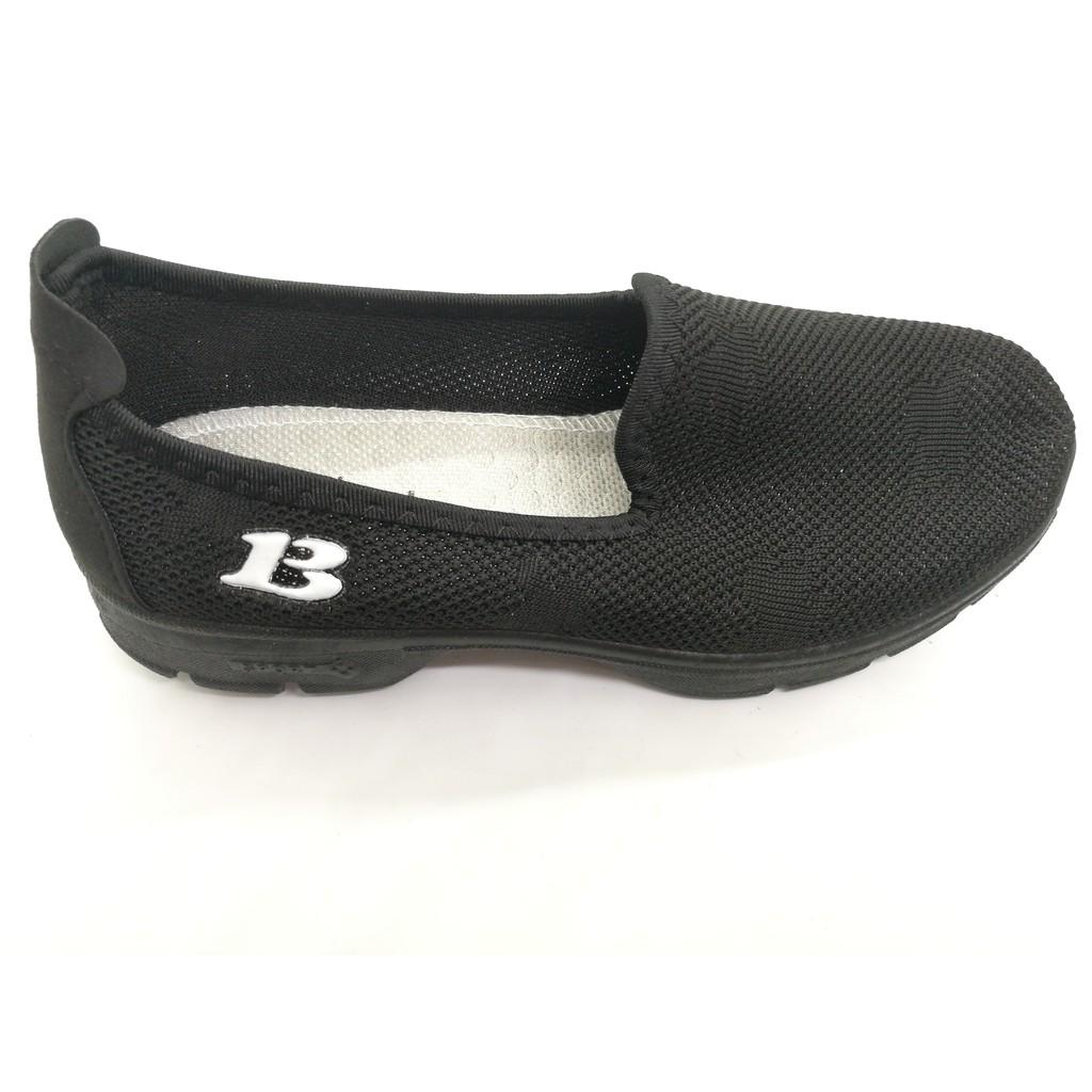 (n31) รองเท้าคัชชู ผู้หญิง แฟชั่น สลิป-ออน ราคาถูก สีดำ