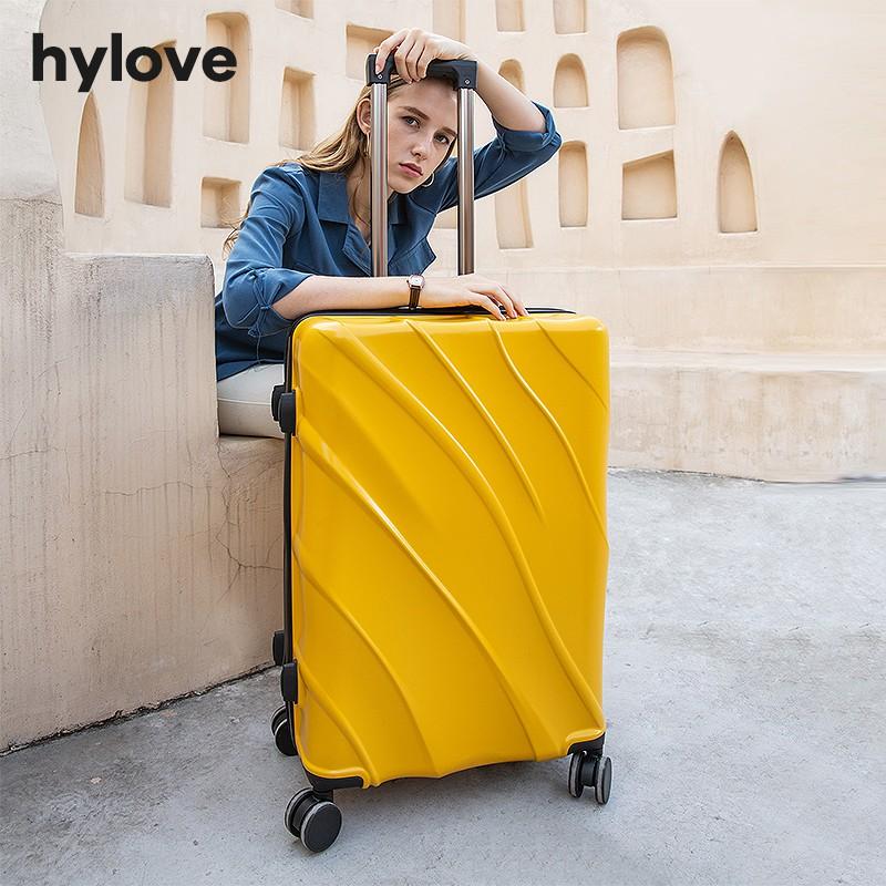กระเป๋าเดินทางผู้หญิง24นิ้ว INS สุทธิสีแดงใหม่ขนาดเล็ก20นิ้ว Boarding กล่อง26นิ้วรถเข็นกระเป๋าเดินทาง1