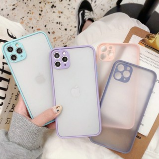 Review OPPO A31 A91 A5 A9 2020 A52 A92 F9 A12 A7 A5s A3s VIVO Y30 Y50 Candy Color Pink & Purple &Gray Camera Protection Anti Crack Hard Case LC