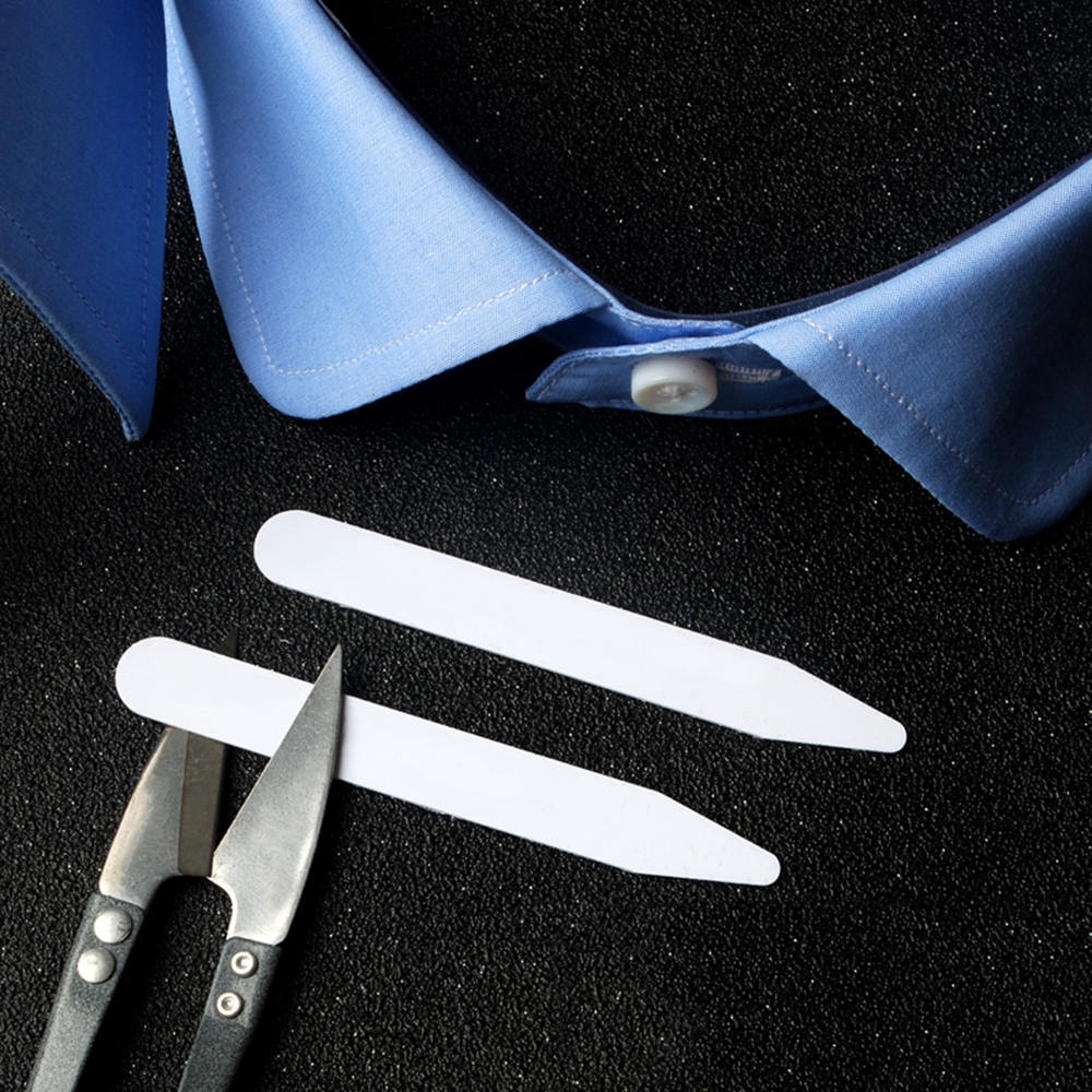 """200 Plastic Collar-Stays Stiffener For Men Dress Shirt 3 Size 2.5/"""" 3/"""" and 2/"""" New"""