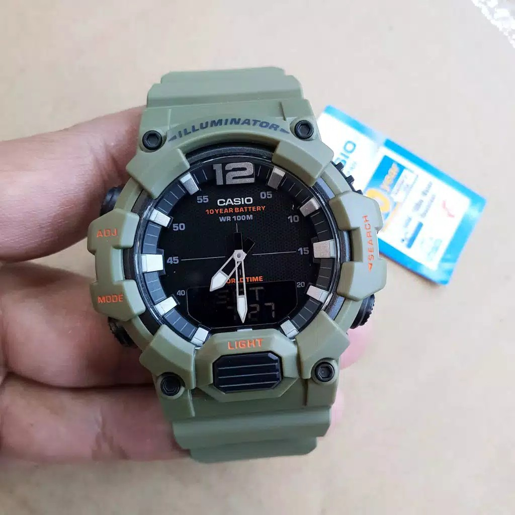 Casio Hdc-700-3a นาฬิกาข้อมือผู้ชายสีเขียว