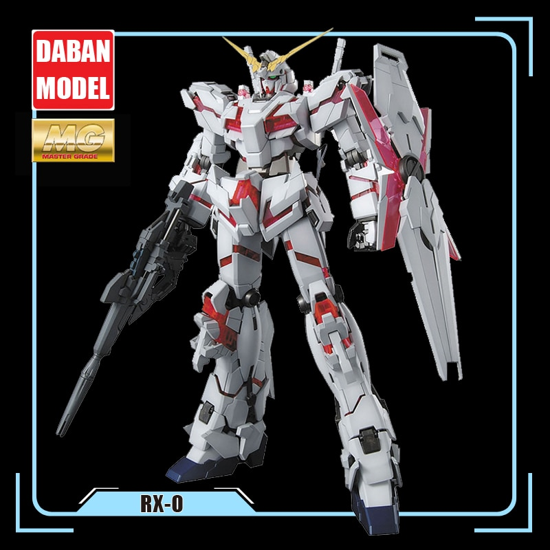 DABAN Model 6637 MG 1/100 RX0 UNICORN GUNDAM 18CM INStock Assembly Anime Figure Toys Figure Gift