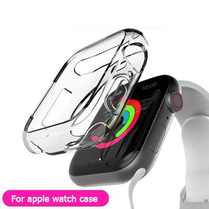 สาย Apple Watch Case ชุด 6 SE 5 4 3 2 1 44 มม. 40 มม. Soft Clear TPU ป้องกันหน้าจอสำหรับ iWatch 4 3 ขนาด 42 มม. 38 มม.