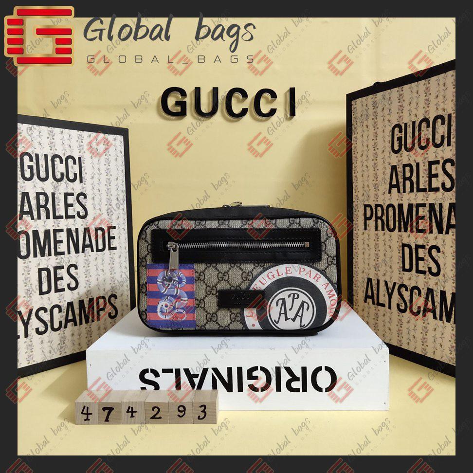 กระเป๋ามัลติฟังก์ชั่น GUCCI สำเร็จรูป Miss Waist Bag กระเป๋าคาดหน้าอกผู้ชายfannypack Waist Bags bumbag belt bag chest