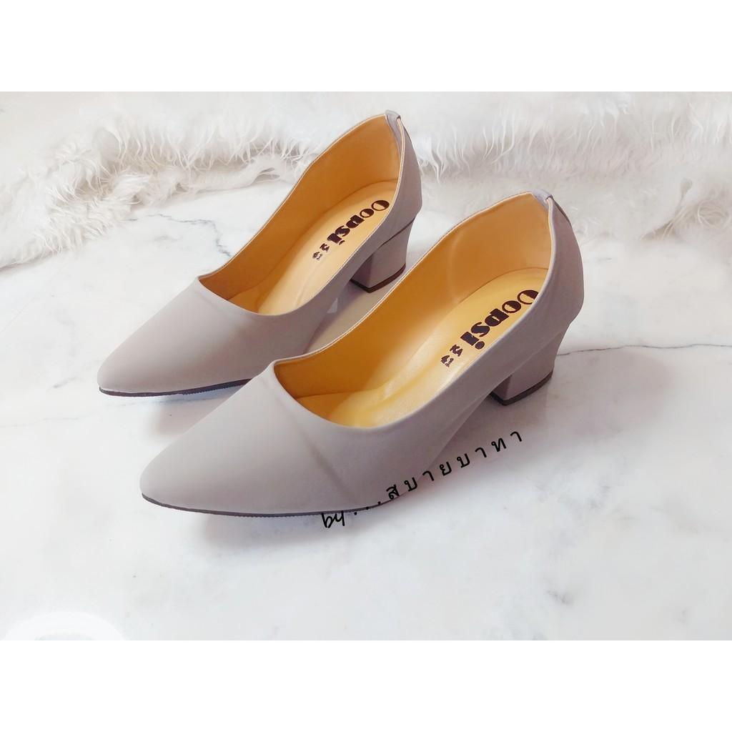 รองเท้าผ้าใบแฟชั่นผู้หญิง รองเท้ามีส้น รองเท้าแตะแฟชั่นผู้หญิง ⭐️ส่งทุกวัน⭐️ รองเท้าคัชชู รองเท้าไซส์ใหญ่ 🎉หัวแหลม ส้น