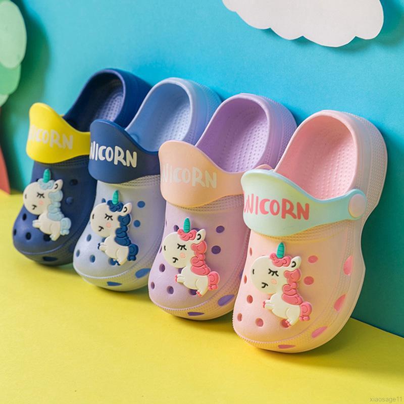 668 New Boys Girls/' Garden Clog Shoe Beach Shower Pool Shoes Toddler Kids