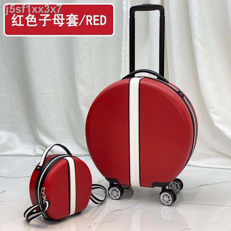 สัมภาระ△⊙❇กระเป๋าเดินทางทรงกลมขนาด 18 นิ้วหญิง กระเป๋าเดินทางขนาดเล็กและน้ำหนักเบา กล่องใส่รหัสผ่าน กระเป๋าเดินทางใบใหม่