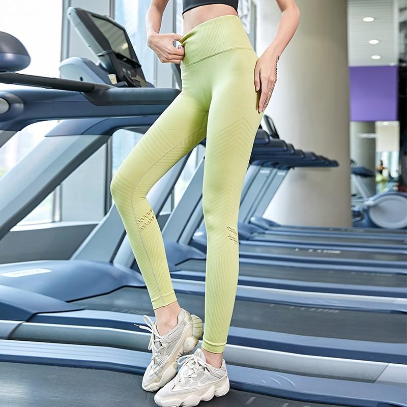 ✣[สินค้าใหม่ขายร้อน] ผู้หญิงกางเกงโยคะออกกำลังกายเอวสูงสะโพกยกยางยืดกระชับหน้าท้องกีฬาวิ่งเสื้อผ้าแห้งเร็ว bottoming ด้