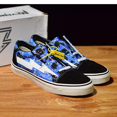 [พร้อมกล่อง] 100% Vans Revenge x Storm Pop-up Store รองเท้าผ้าใบรองเท้าผ้าใบรองเท้าสเก็ตบอร์ด