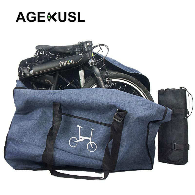 Agekusl กระเป๋าเดินทาง 16 นิ้วสําหรับรถจักรยาน