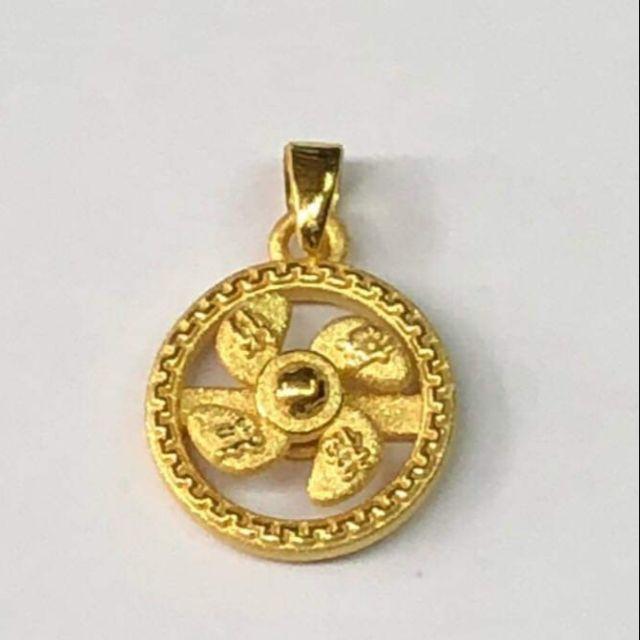 จี้กังหันแชกงทองแท้ 99.99%  นำเข้าจากฮ่องกง เสริมดวง โชคลาภวาสนา น้ำหนัก 1.9 -2.2กรัม ราคา5,980บาท