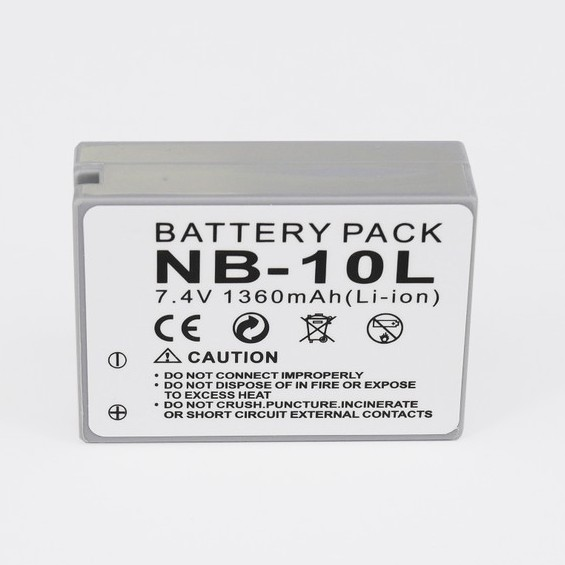 NB10L SX60 HS Charger for Canon NB-10L Battery Pack Rechargeable Lithum-Ion