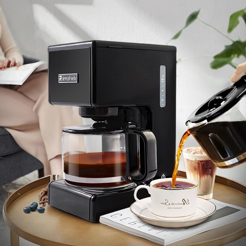 Alfield เครื่องชงกาแฟอเมริกันบ้านขนาดเล็กมินิกึ่งอัตโนมัติเครื่องชงกาแฟสดชงชาเครื่องทำ