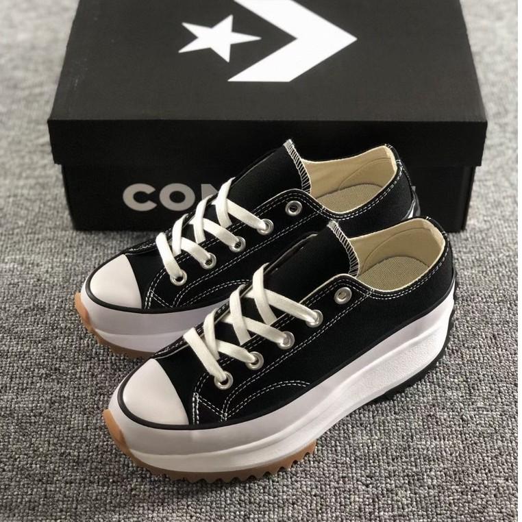 ส่วนลด converse Run star hike low authentic คอนเวิร์สแท้ดำ เพิ่มความสูงให้กับรองเท้า รองเท้าสตรี รองเท้าผ้าใบ c919