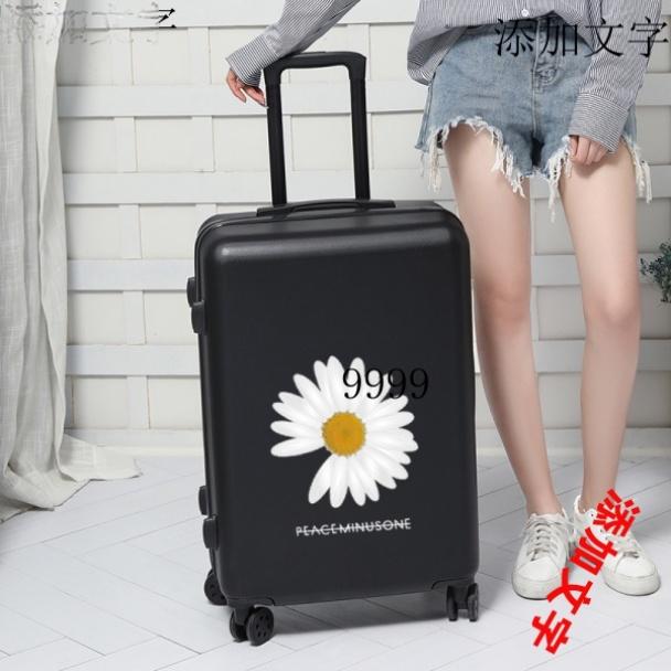 กระเป๋าเดินทางล้อลากแบบหนังขนาด 24 นิ้ว 26 นิ้วสําหรับผู้หญิง