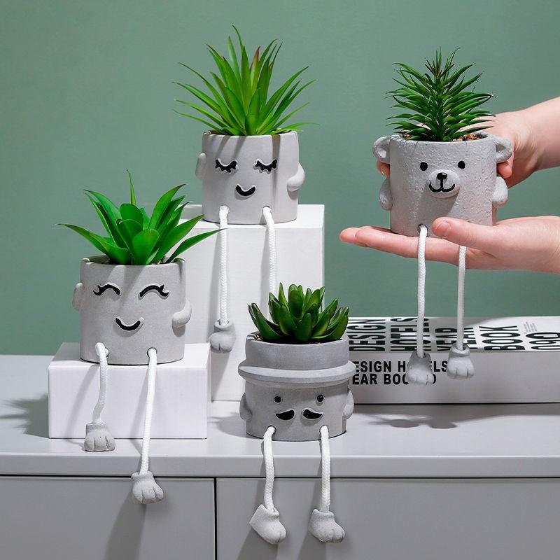 >การจำลองแบบนอร์ดิก พืชในร่ม, ดอกไม้ปลอม, พืชอวบน้ำ, พืชสีเขียว, ไม้กระถางปลอม, เครื่องประดับขนาดเล็กเดสก์ท็อปหญ้าปลอมตก