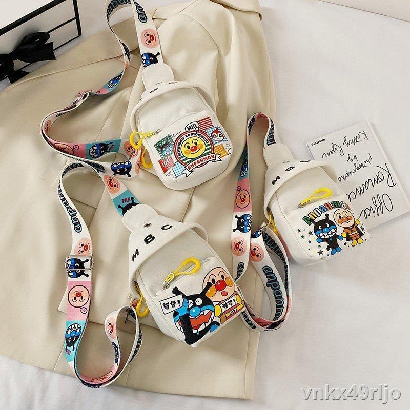 จัดส่งจากประเทศไทย❄☾กระเป๋าผ้าใบการ์ตูนน่ารักใบเล็ก, กระเป๋าคาดหน้าอกเด็ก, กระเป๋าเดินทางกลางแจ้งที่เบาและเอนกประสงค์,