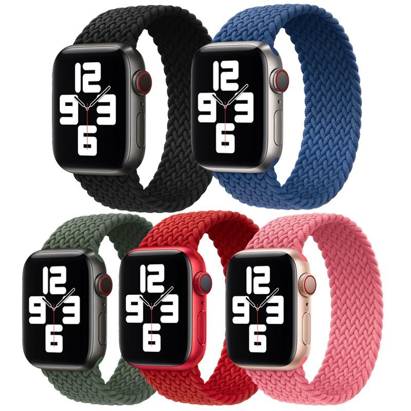 สาย applewatch♀♝ใช้ได้กับ Apple Watch ที่มีสาย iwatch6, สายทอแบบห่วงเดียว applewatch5 / 4 3/4 รุ่นยืดทอ s5 กีฬาสร้างสร