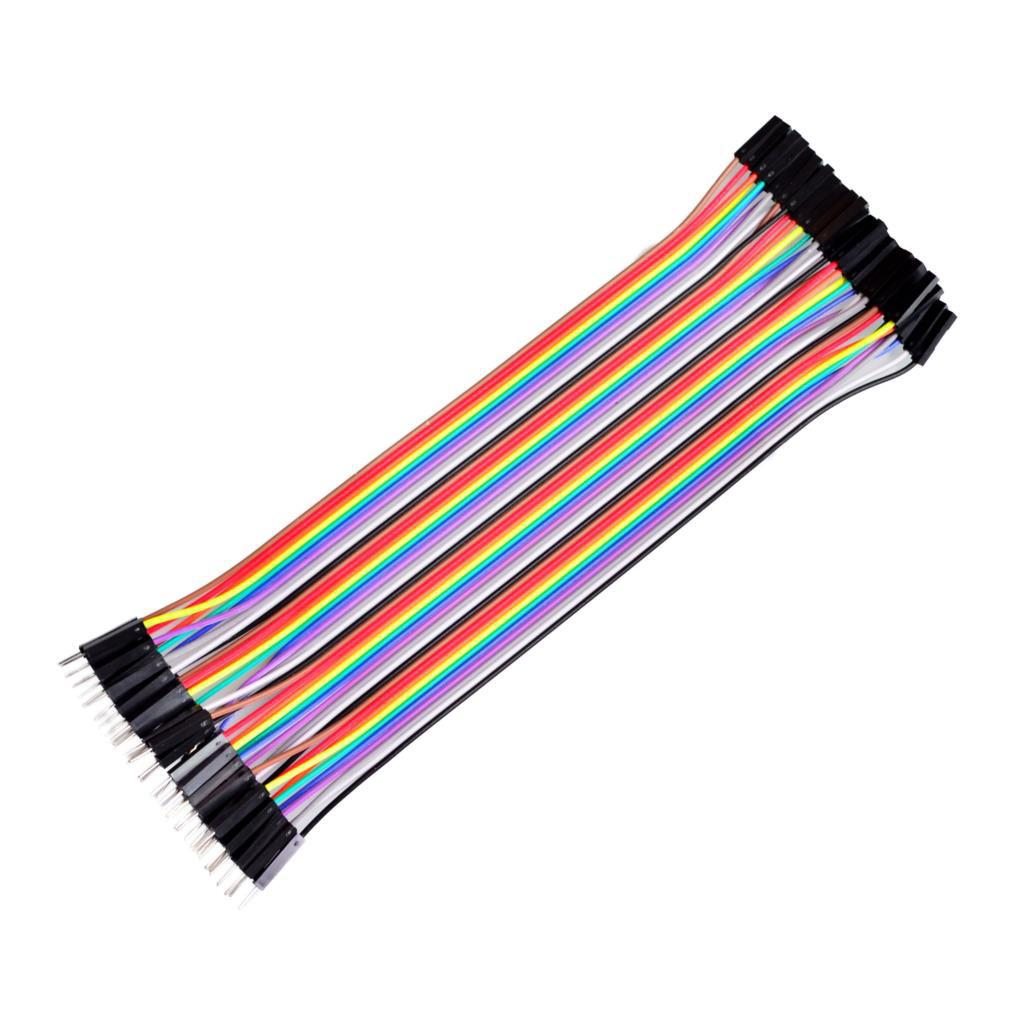 40pcs Female to Female Dupont Jumper Wire Cable for Breadboard 2.54MM 15CM