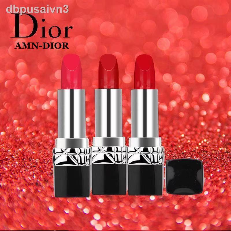 Dior ลิปสติก☾₪อย่างเป็นทางการของแท้ Dior Mani lipstick 999 moisturizing 888 non-fading 520 ของขวัญวันวาเลนไทน์