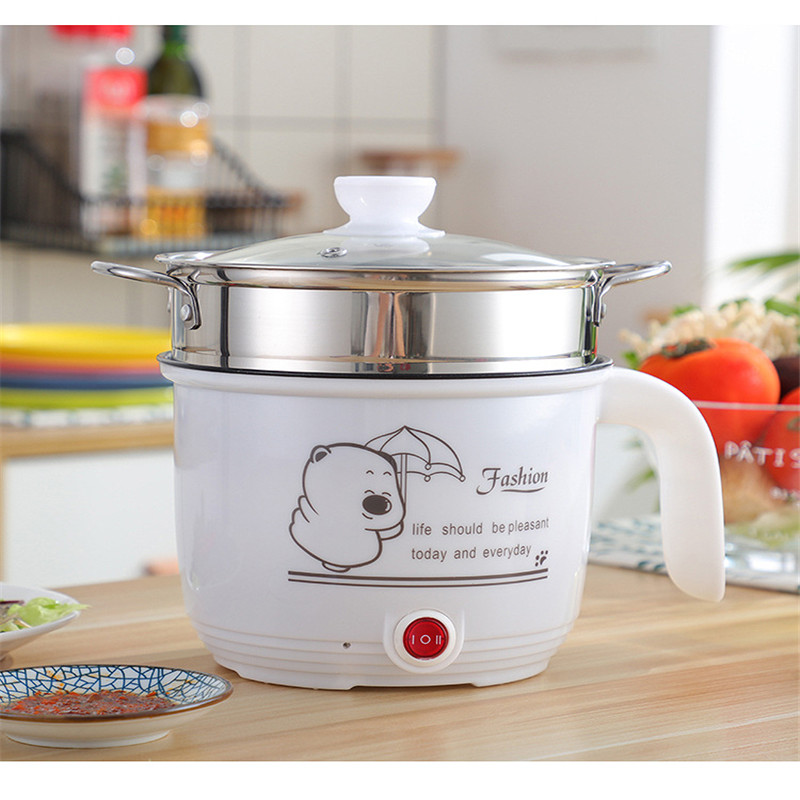 Electric Hot Pot Multi Cooker Portable Electric Rice Cooker Non-stick Stainless Steel