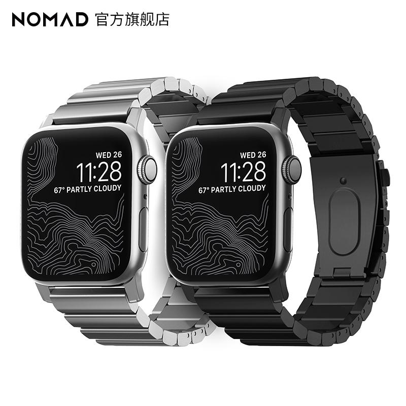 ✺✉สายนาฬิกา smartwatchสายนาฬิกา gshockอเมริกันNomad applewatch4/5/6รุ่นSEแอปเปิ้ลสายเหล็กiwatch5แฟชั่นสร้างสรรค์สายสแตนเ