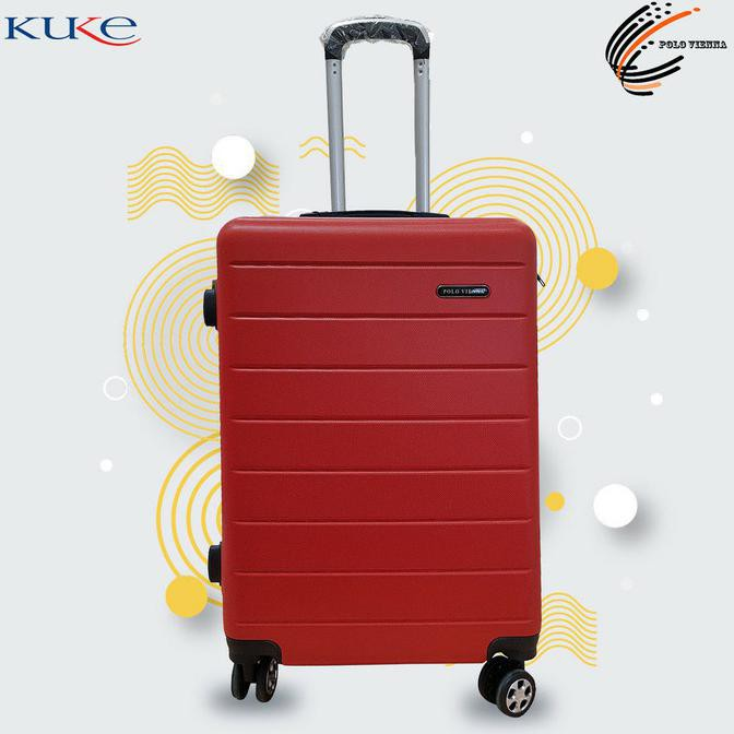 กระเป๋าเดินทางขนาด 001 24 นิ้ว Abs Fibe / Luggage / กระเป๋าเดินทาง - สีแดง