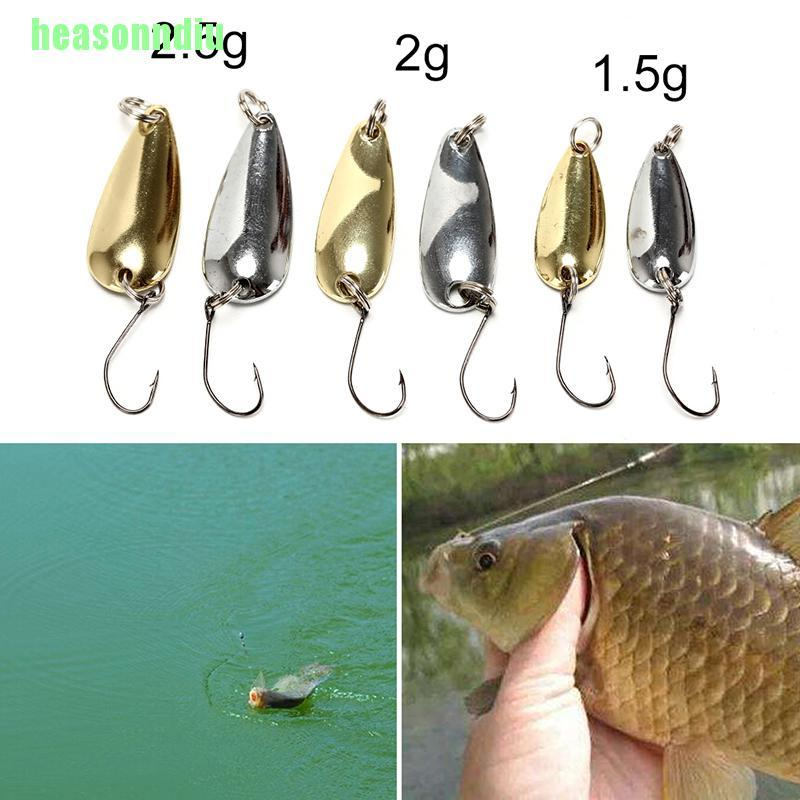 Ho  เหยื่อตกปลาโลหะ 1 . 5 / 2 / 2 . 5 กรัม สีทอง / เงิน 1 ชิ้น