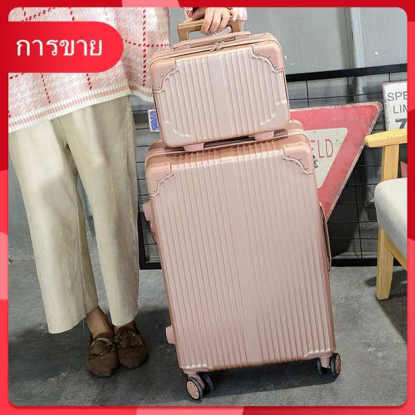 กระเป๋าเดินทางสุทธิสีแดงรถเข็นหญิงกระเป๋าเดินทางหนังแม่กล่อง 24 นักศึกษาเกาหลีน่ารักญี่ปุ่นกระเป๋าเดินทางน้อย