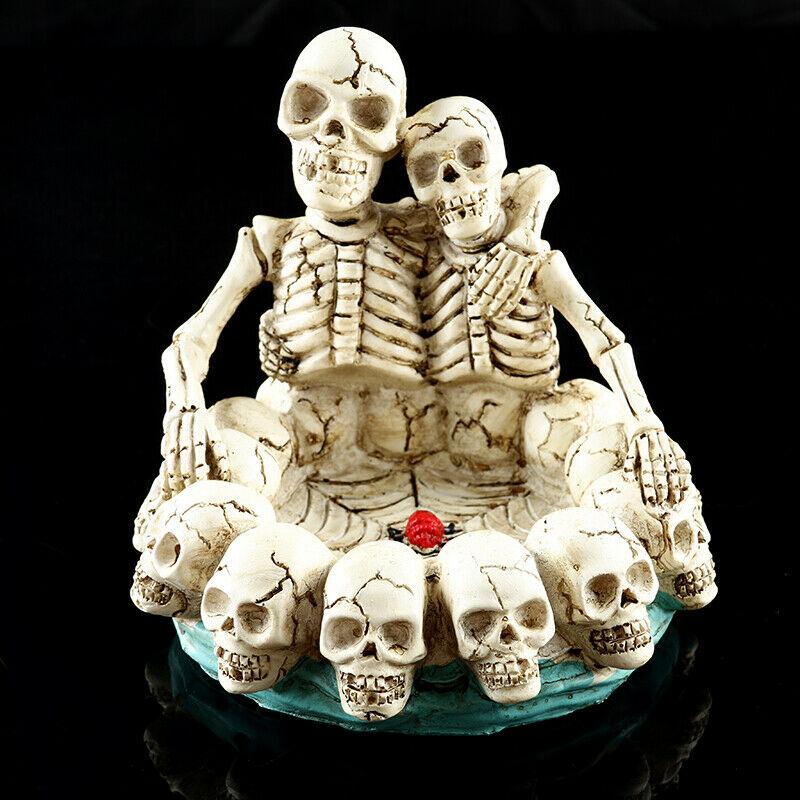 Please CODSkeleton GOTHIC Resin Head SKULL ASHTRAY Cigarette Holder Honey Lovers