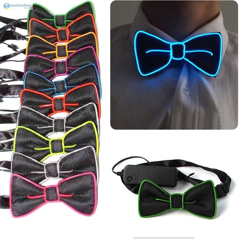1Pc LED-Flashing Light Up Sequin Bowtie Necktie Party Bow Tie Wedding Gift Hot