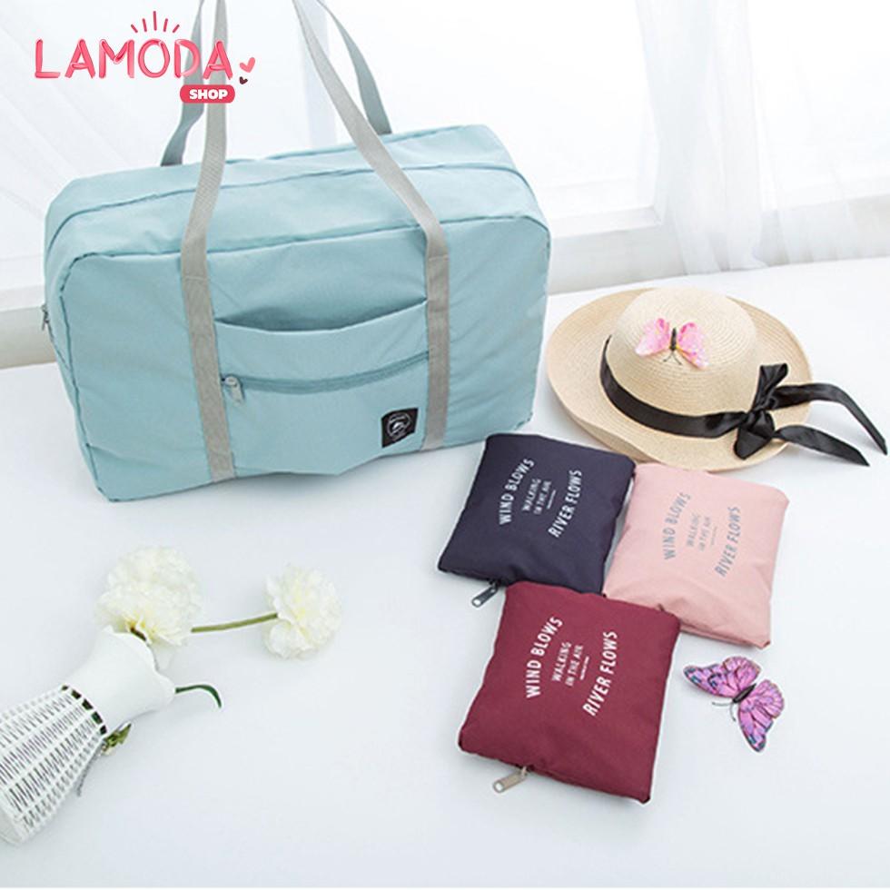 กระเป๋าเดินทางแบบพับเก็บได้ พิเศษ! ติดกับกระเป๋าเดินทางล้อลากได้