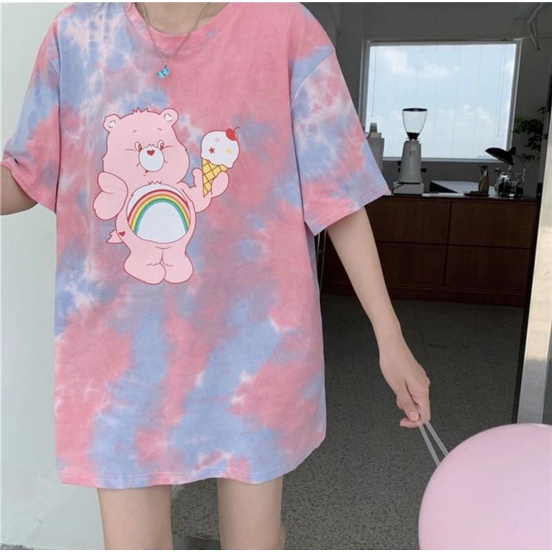 เสื้อยืดลายCare Bears:Ice Creamมัดย้อมสุดน่ารัก