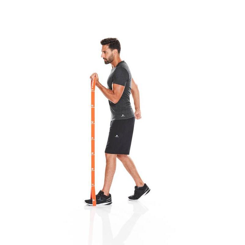 ยางยืดออกกำลังกาย Domyos 500 PILATES STRETCHING FABRIC ELASTผ้ายืดออกกำลังกาย ยางยืดแรงต้าน  ยางยืดออกกำลังกายแรงต้านสูง