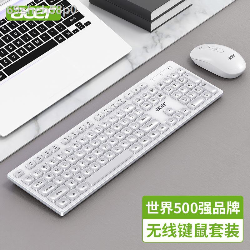 ❁❀☏ชุดคีย์บอร์ดและเมาส์ไร้สายของ Acer ปิดเสียงคอมพิวเตอร์โน้ตบุ๊ก all-in-one universal office การพิมพ์สิ่งประดิษฐ์