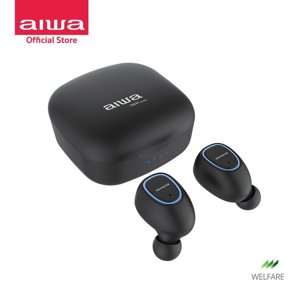 [ผ่อน 0%] AIWA AT-X80S TWS Bluetooth Earphones หูฟังไร้สายแบบอินเอียร์ กันน้ำระดับ IPX4