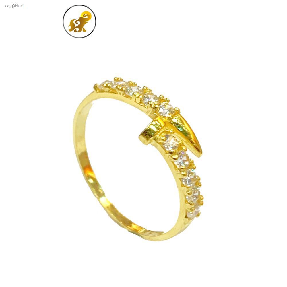 ราคาต่ำสุด✘PGOLD แหวนทองครึ่งสลึง เพชรสวิสตะปู หนัก 1.9 กรัม ทองคำแท้ 96.5% มีใบรับประกัน