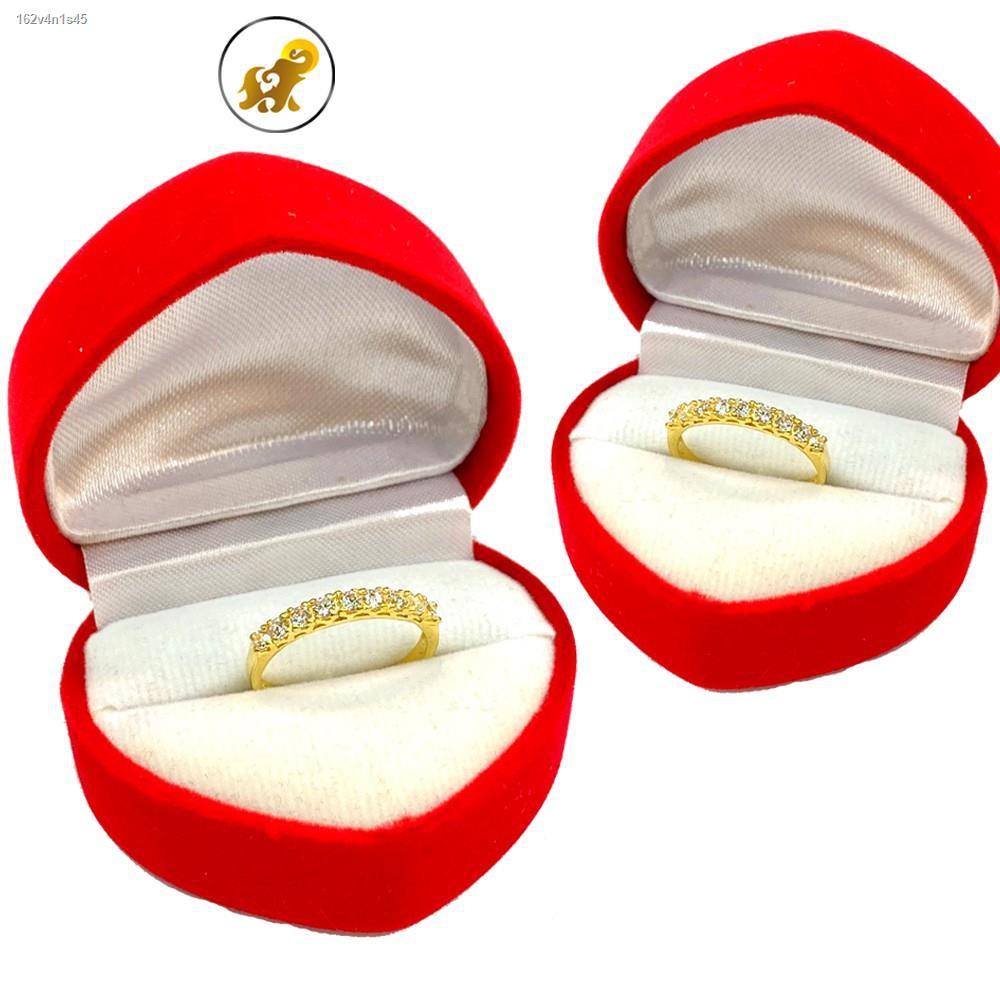 ราคาต่ำสุด™Flash Sale แหวนทองครึ่งสลึง เพชรสวิสแถวเรียง หนัก 1.9 กรัม ทองคำแท้ 96.5% มีใบรับประกัน