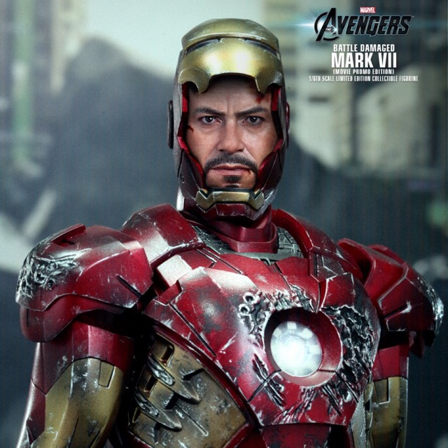 HOT TOYS Avengers Iron Man MK7 Mark VII BATTLE DAMAGED