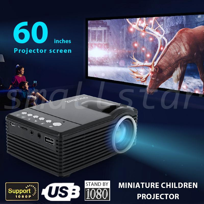 Digital Multimedia Projector Up to 80/'/' inch Display HD 1080p Support