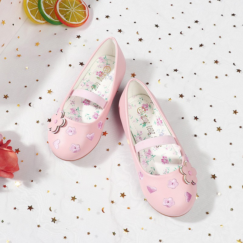 รองเท้าคัชชู ลายดอกไม้ แฟชั่นสำหรับเด็กผู้หญิง