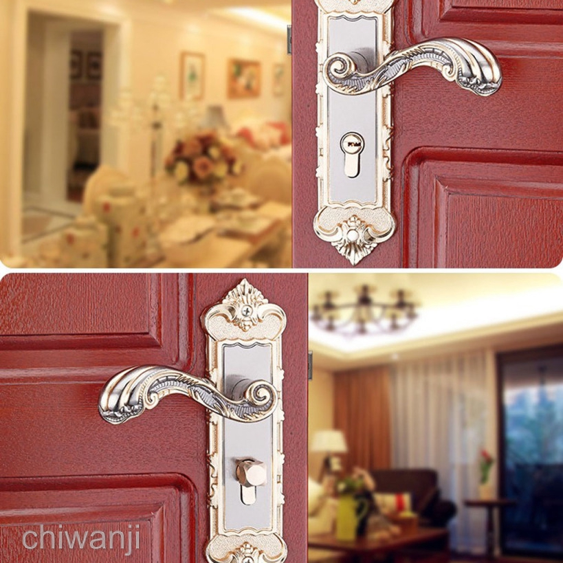 Internal Room Door Handles Packs - Latch Lock Bathroom Lever Lockset #6